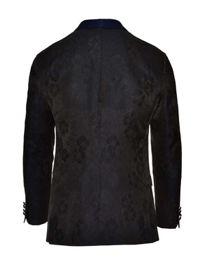 Regent Shawl Tuxedo Jacket - Slim - Midnight Flower Jacquard