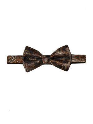 Bradley Bow Tie - Brown/Gold Paisley
