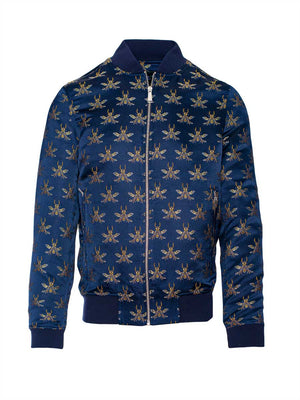 Hyde Bomber Jacket - Navy Gold Bee