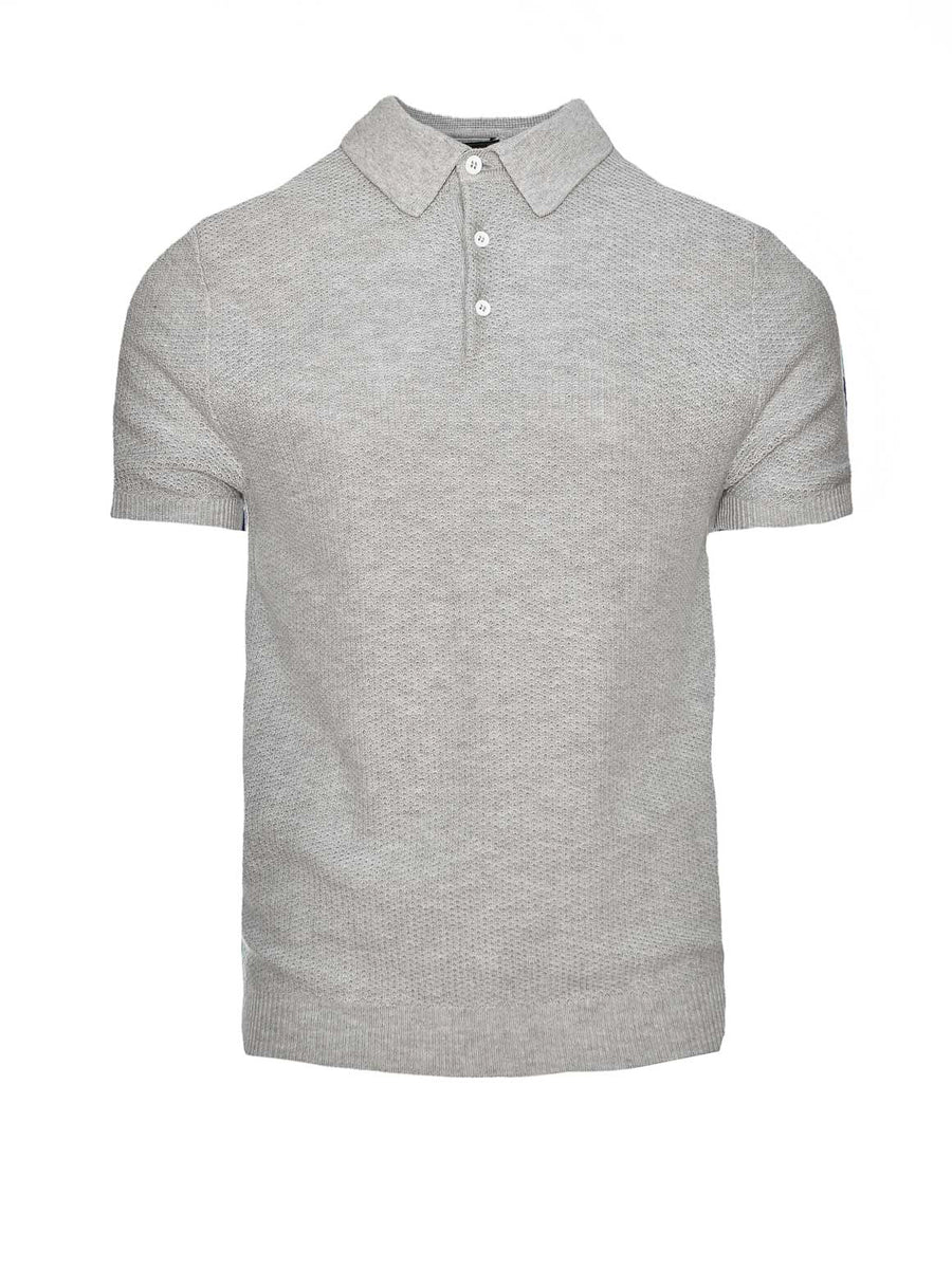 Mesh Polo - Heather Grey