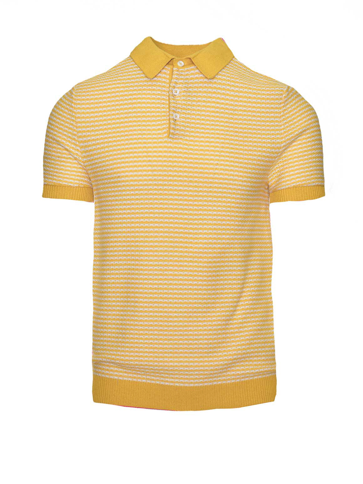 Mini Stripe Polo - Yellow/White