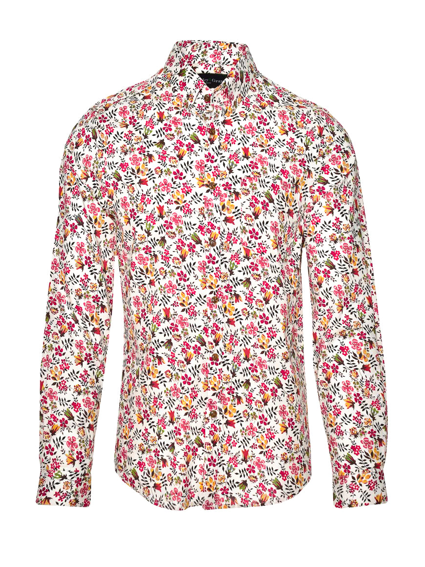 Long Sleeve Shirt - Raspberry Floral