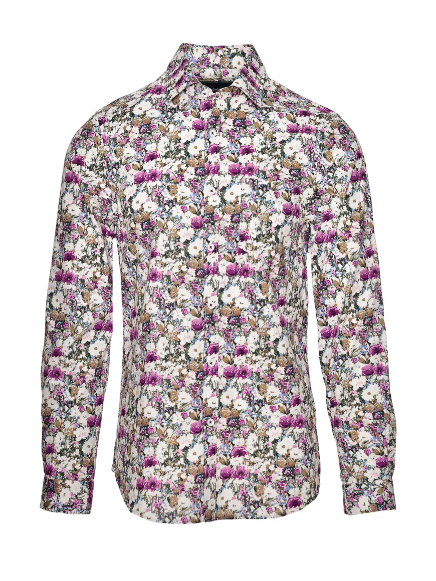 Long Sleeve Shirt - Lilac Floral