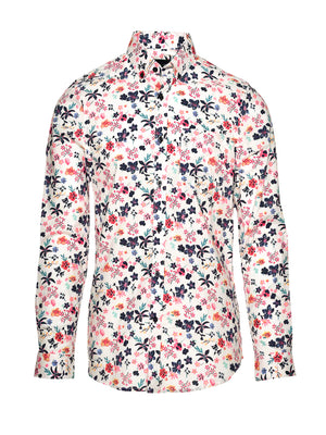 Long Sleeve Shirt - White Floral