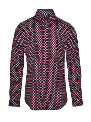 Ltd Edition Long Sleeve Shirt - Pink Geo