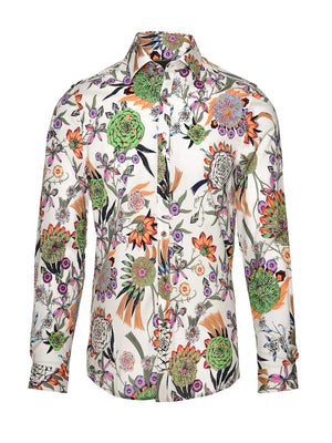 Ltd Edition Long Sleeve Shirt - Thistle Flowers