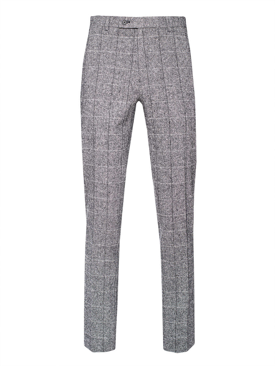 Downing Pants - Slim - Steel Donegal Check