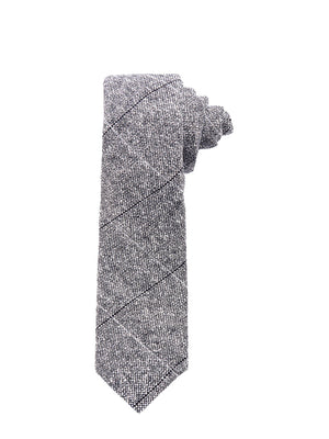 Stanley Tie - Steel Donegal Check