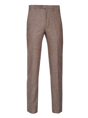 Downing Pants - Slim - Chocolate Herringbone