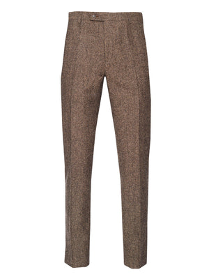 Downing Pants - Slim - Chestnut Donegal
