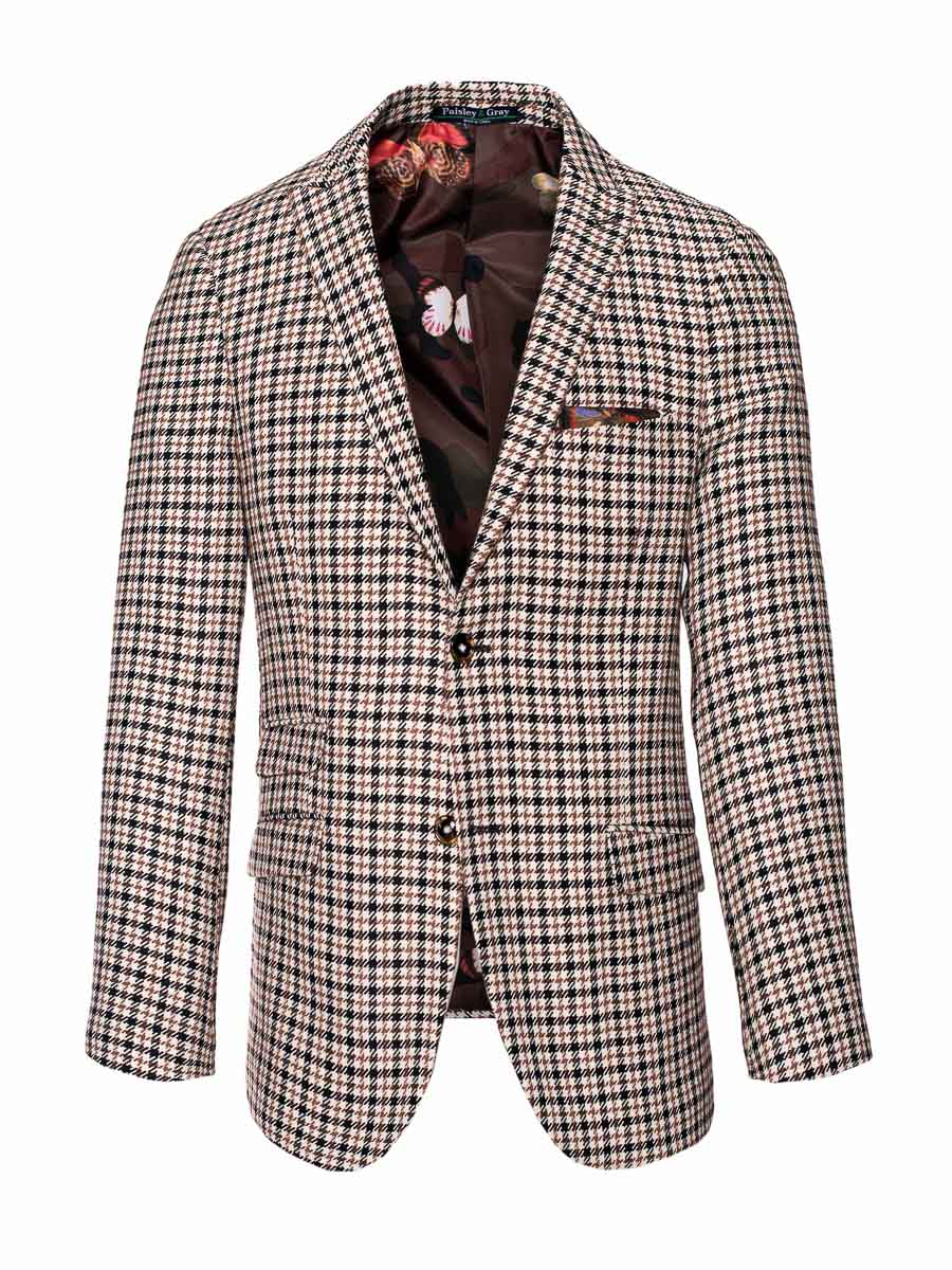 Smithfield Peak Jacket - Skinny - Black Chestnut Houndstooth
