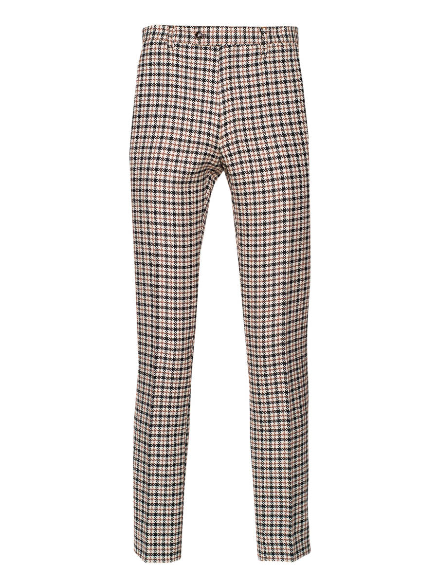 Camden Pants - Skinny - Black Chestnut Houndstooth