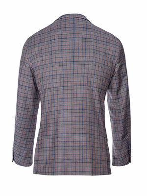 Ltd Edition Dover Notch Jacket - Slim - Cinnamon Teal Check