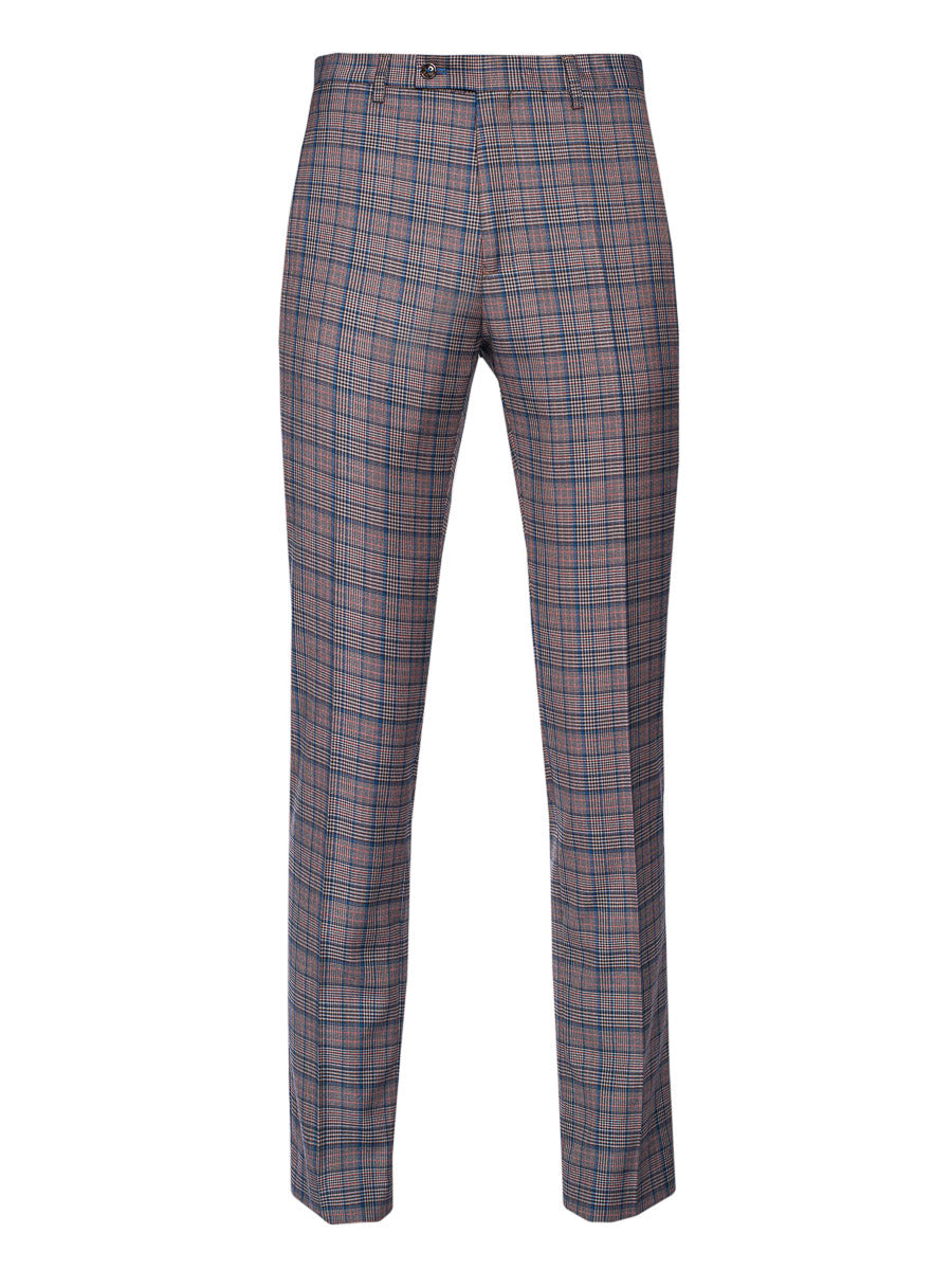 Ltd Edition Downing Pants - Slim - Cinnamon Teal Check