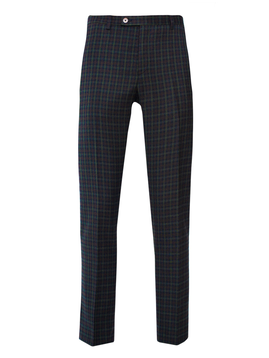 Ltd Edition Downing Pants - Slim - Forest Berry Check