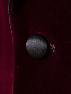 Grosvenor Peak Tuxedo Jacket - Slim - French Burgundy Velvet