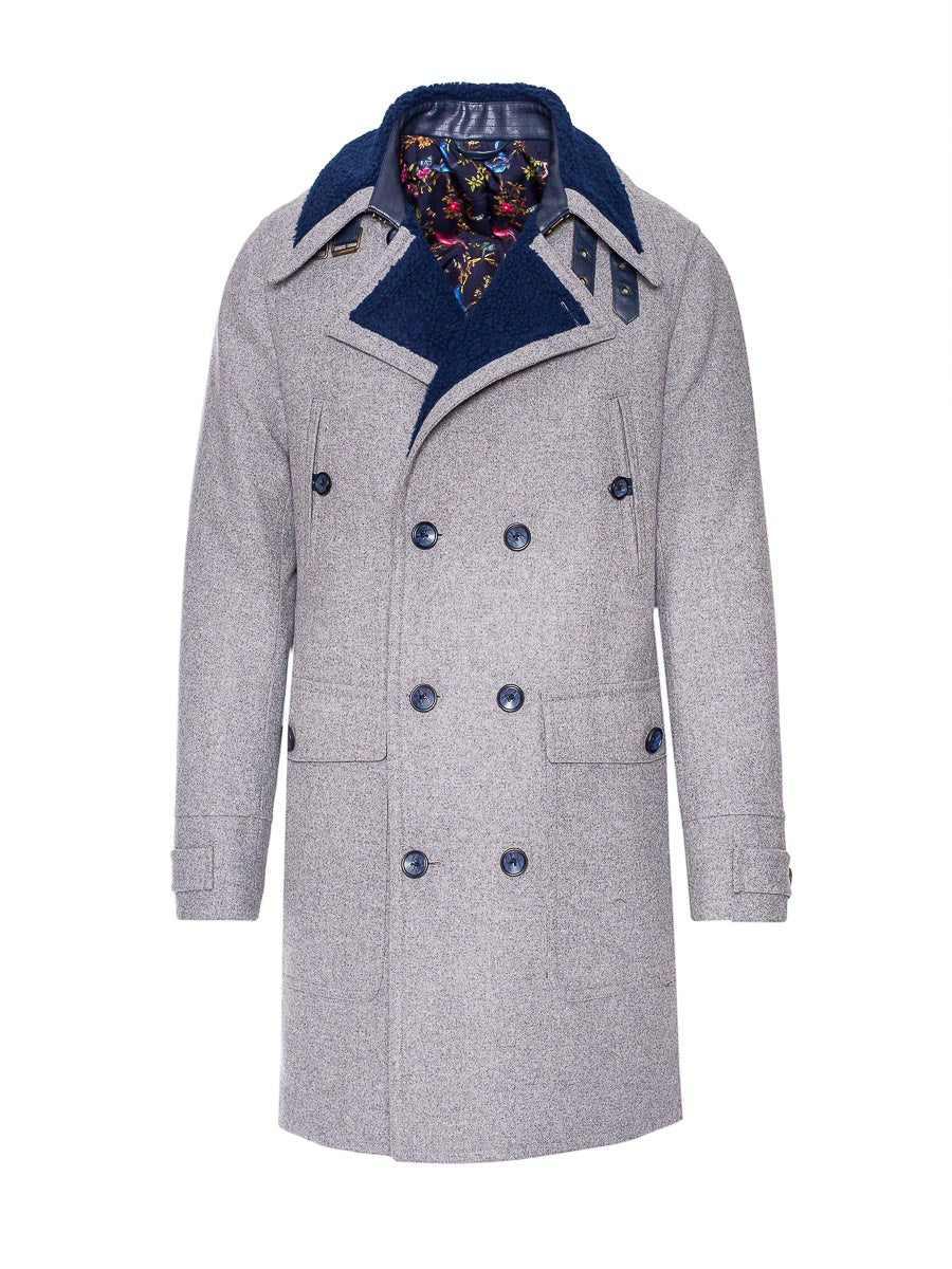 Sherpa Peacoat - Light Grey