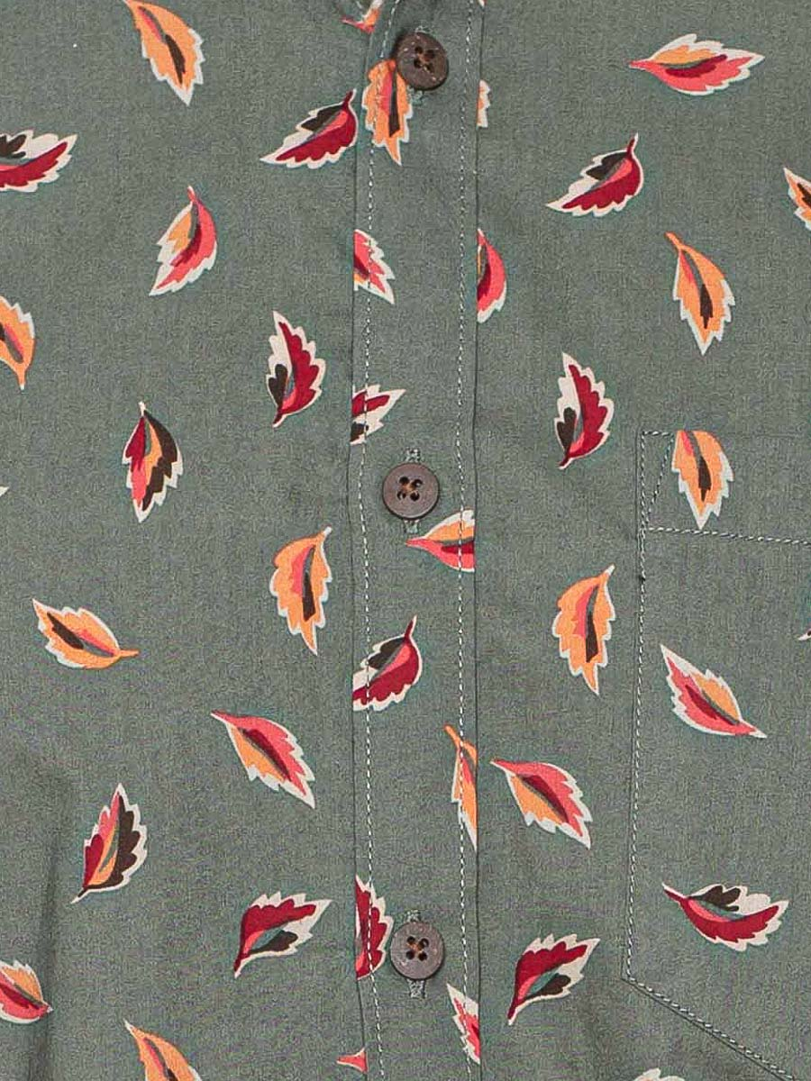 Button Down Shirt - Fall Leaves