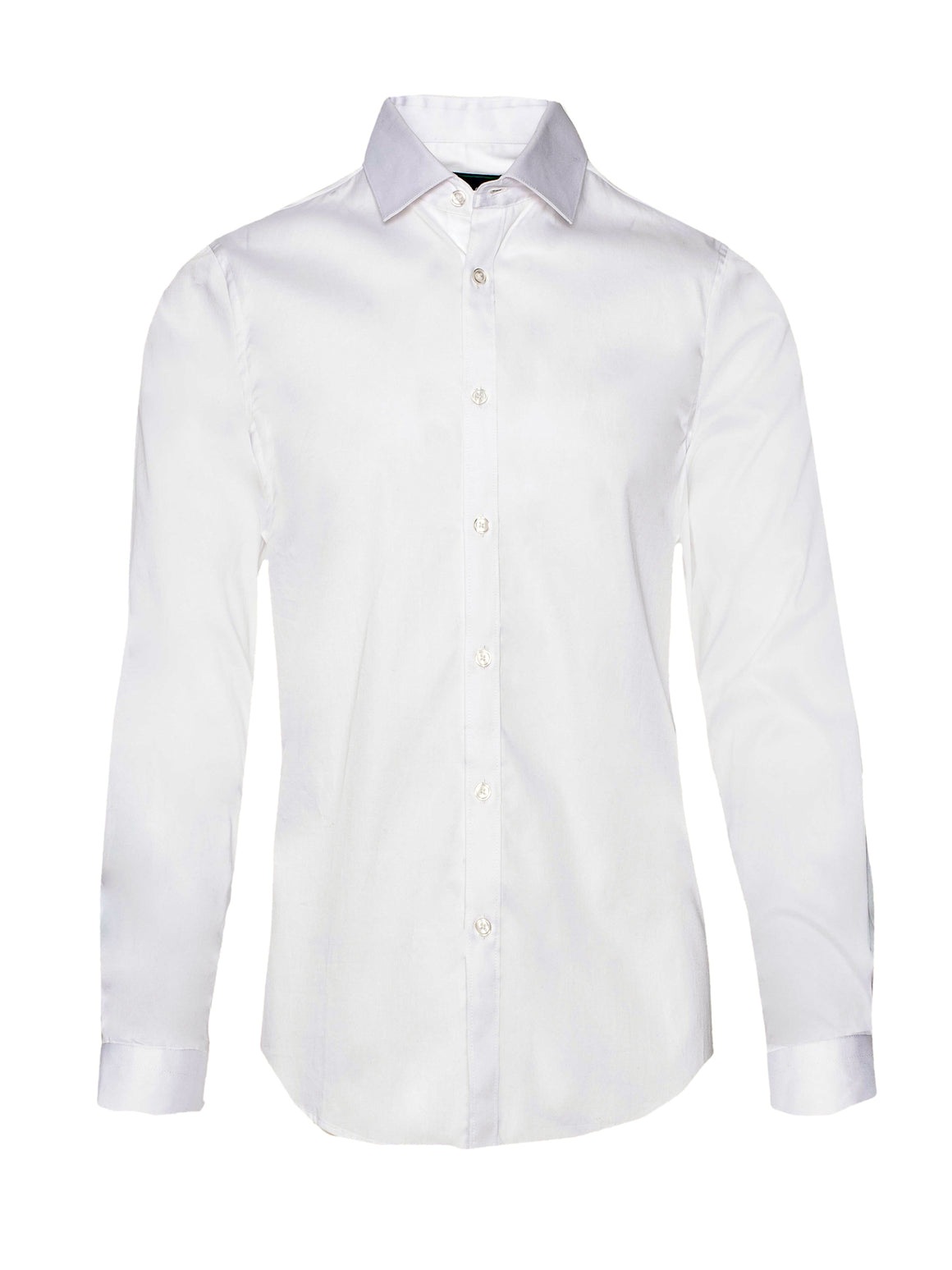 Spread Collar Dress Shirt - White