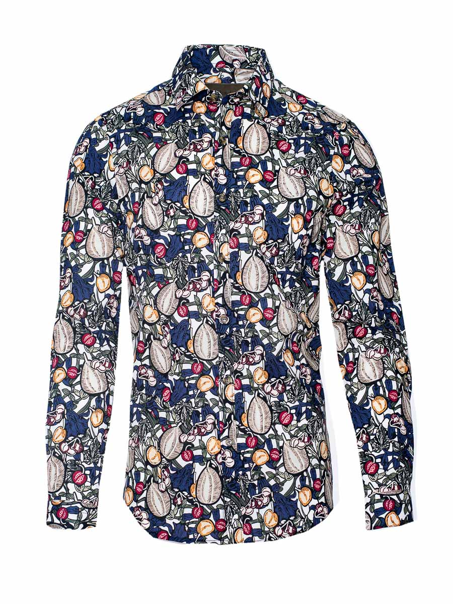 Ltd Edition Spread Collar Shirt - Nuts & Berries