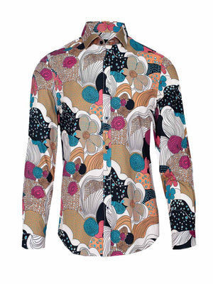 Spread Collar Shirt - Psychedelic Nights