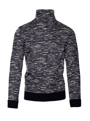 Knit Turtleneck - Grey Camo