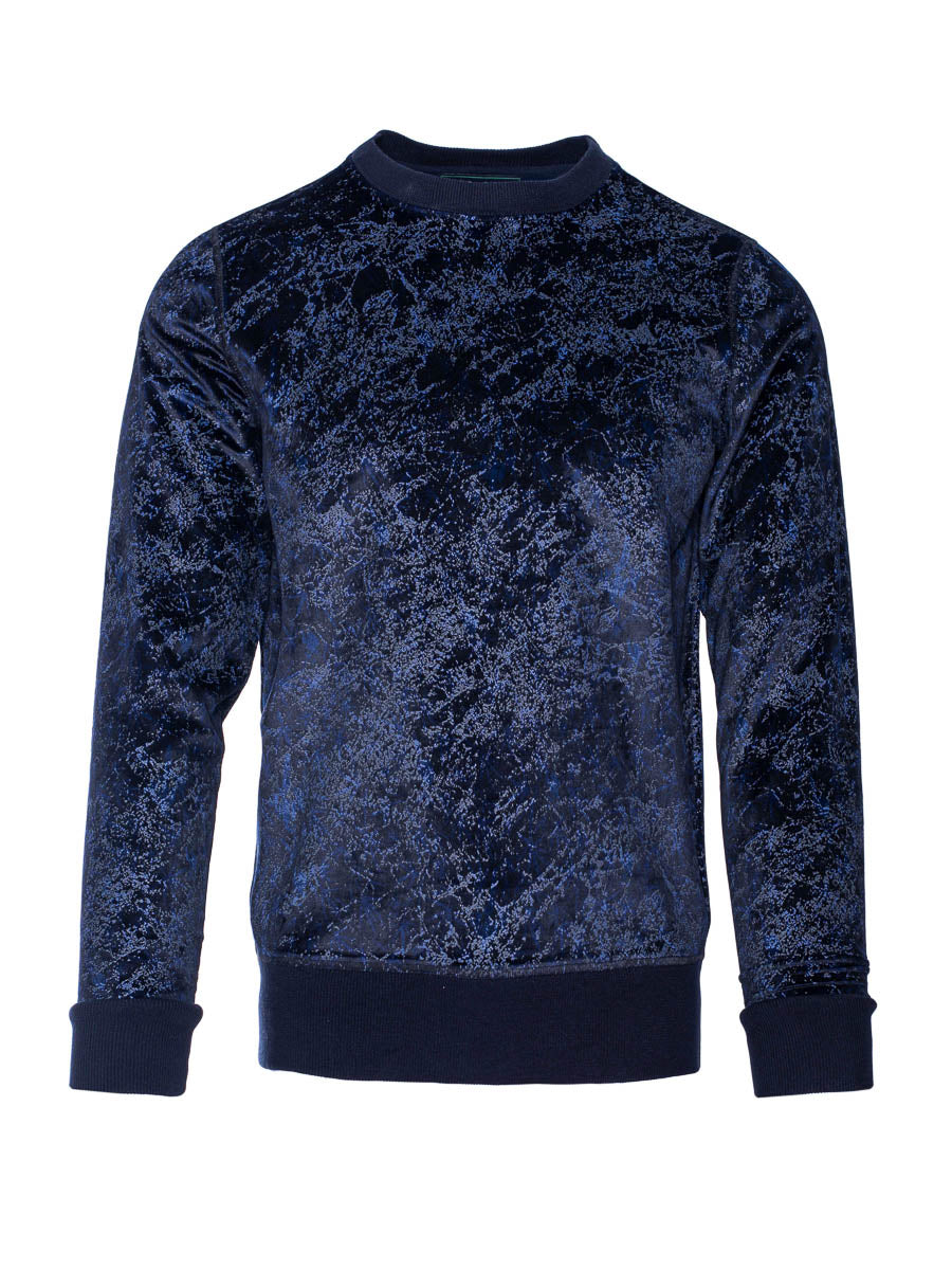 Crew Sweatshirt - Crackle Velvet