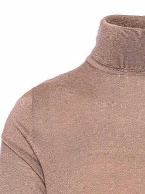 Fine Gauge Turtleneck - Toasted Pine Nuts