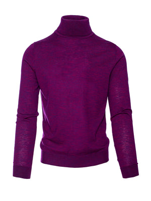 Fine Gauge Turtleneck - Purple Haze