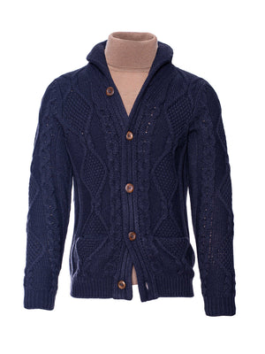 Cable Cardigan - Orion Blue