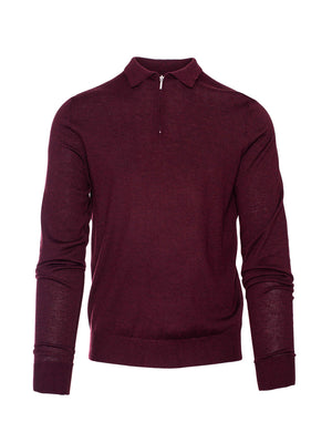 Fine Gauge Polo - Oxblood