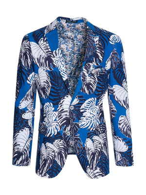 Dover Notch Jacket - Slim - Blue White Floral