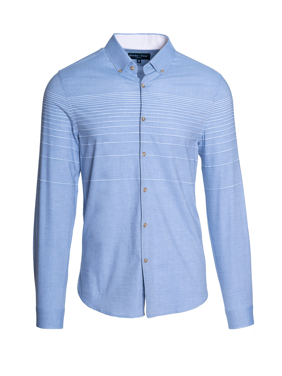 Button Down Shirt - Slim - Oxford Stripe