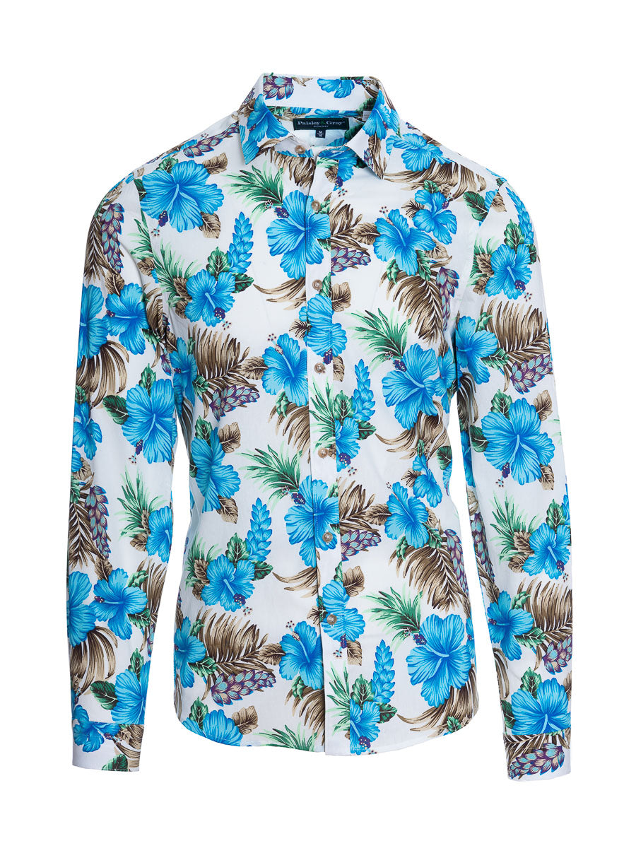 Spread Collar Shirt - Slim - Blue Paradise