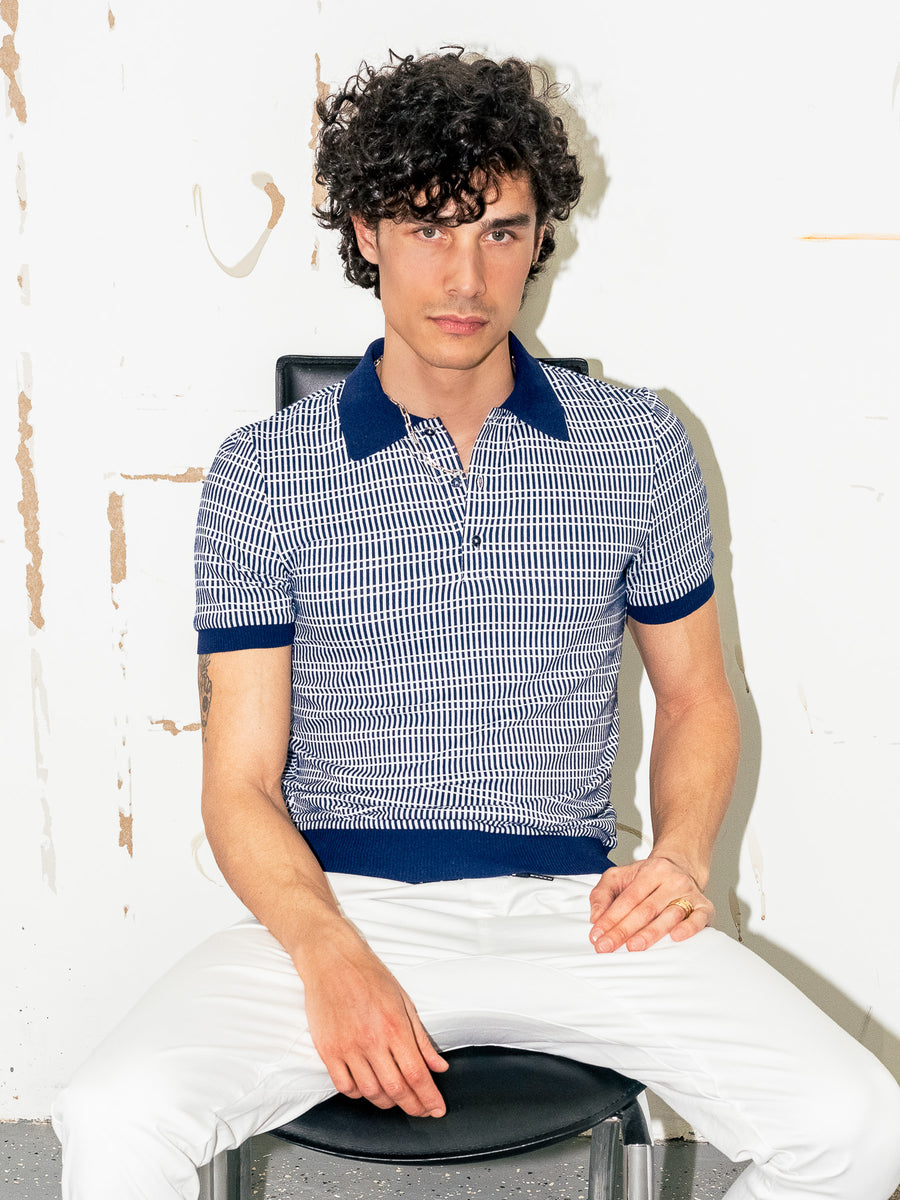 Retro Polo - Vintage Blue