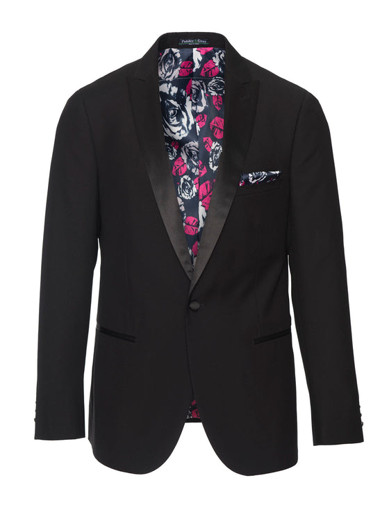 Grosvenor Peak Tuxedo Jacket - Black