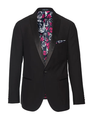 Grosvenor Peak Tuxedo Jacket - Slim - Black
