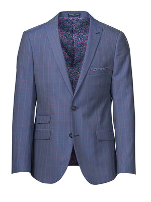 Ashton Peak Jacket - Blue & Pink Grid