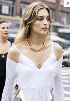 Blog - CHRISTIE TYLER IN THE GOLD PEARL & ORB NECKLACES