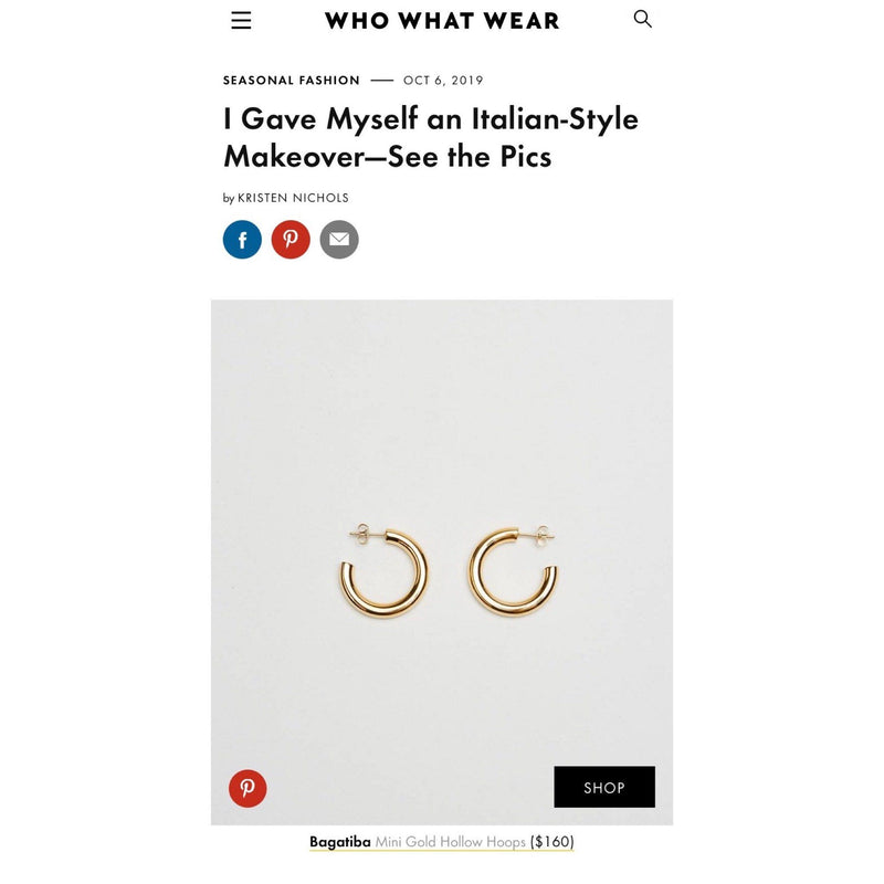 Blog - MINI HOLLOW HOOPS ON WHO WHAT WEAR