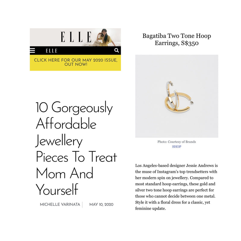 Blog - TWO-TONE HOOPS ON ELLE MAGAZINE