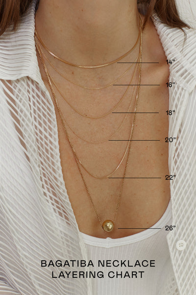Necklace Chart - measures hanging distance