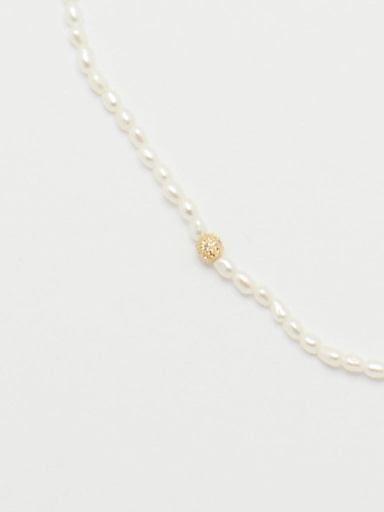 14K Diamond Pearl Necklace Necklace bagatiba