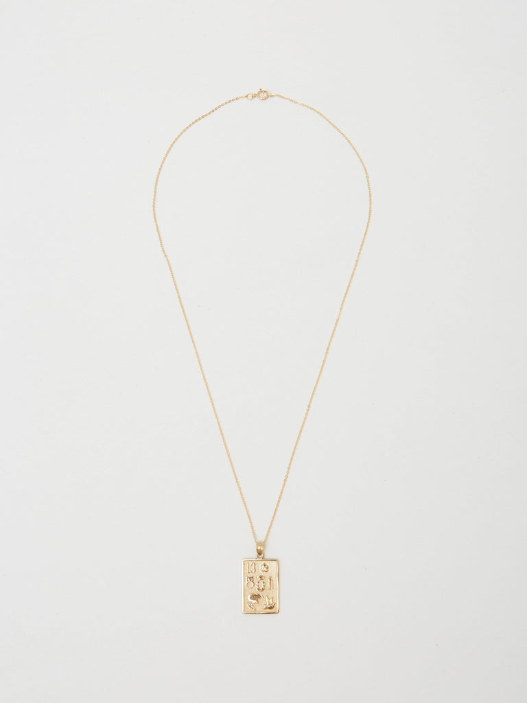 Full view flat lay of 14K Lucky Charm Necklace Necklace Bagatiba