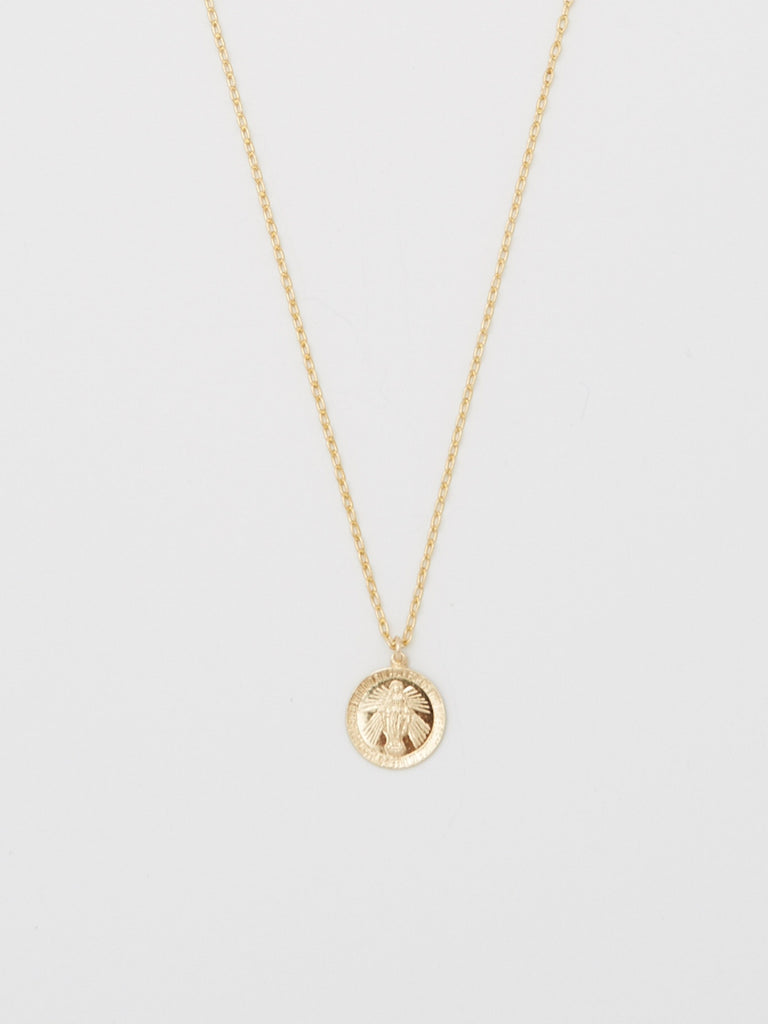 "20"" Pray For Mary Oval Necklace"
