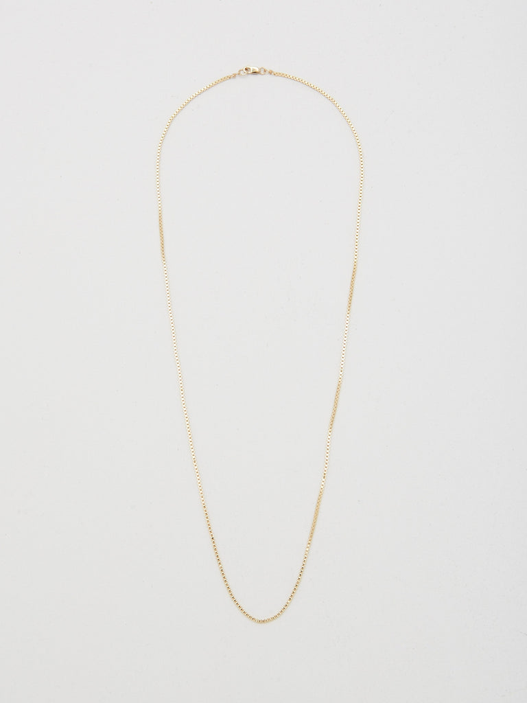 "Full view flat lay of 22"" Thick Vintage Square Chain Necklace bagatiba"
