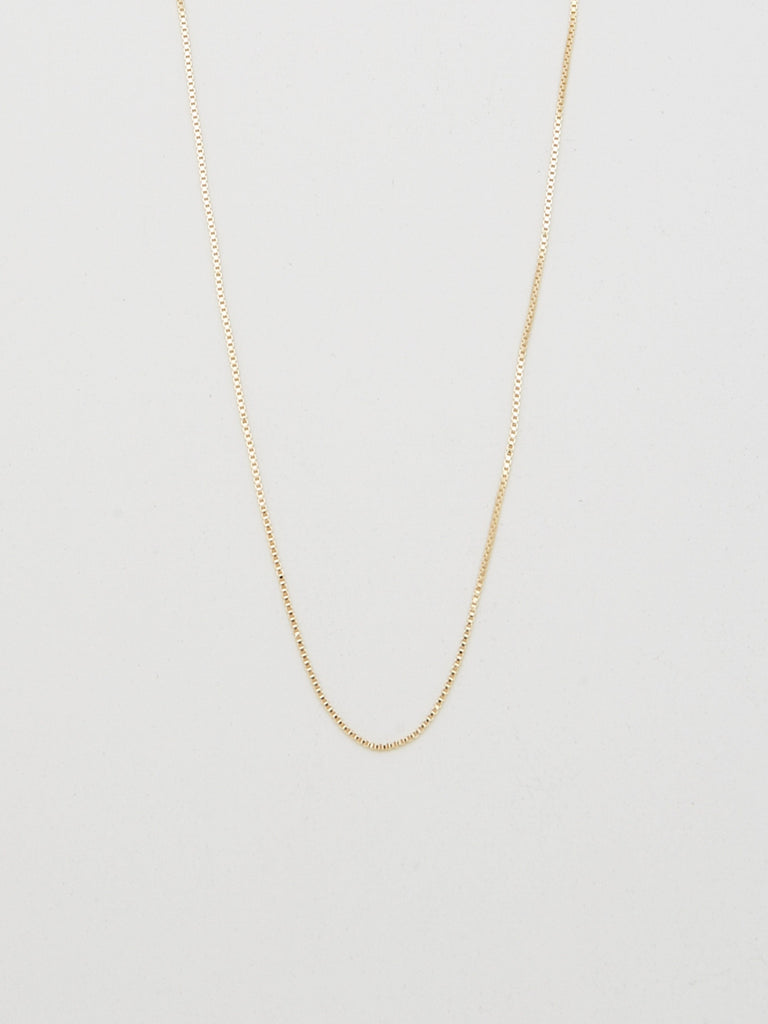 "Cropped flat lay view of 22"" Thick Vintage Square Chain Necklace bagatiba"