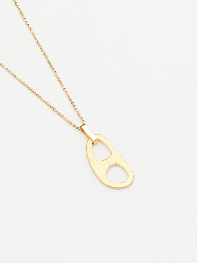 Detail flat lay of Adjustable Gold Tab Necklace Necklace bagatiba