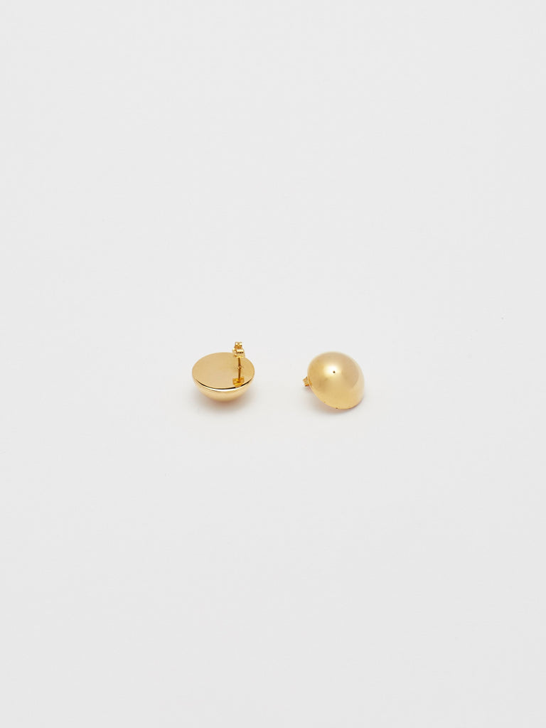 Flat lay view reverse side of Button Studs Earrings Bagatiba