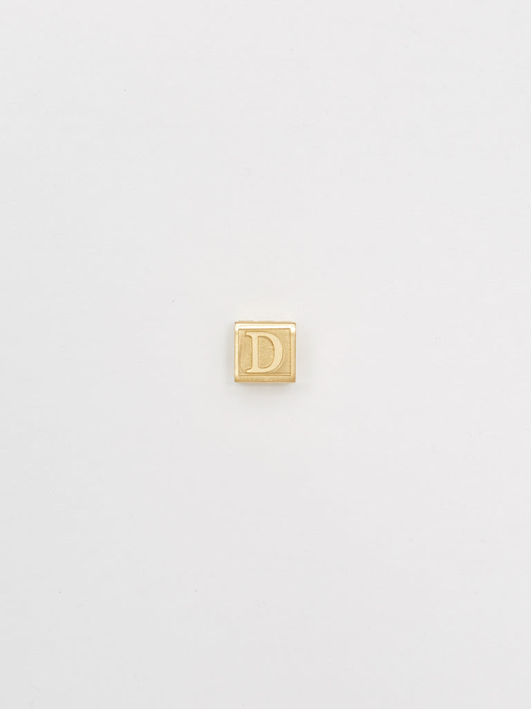 "Full view flat lay of ""D"" Letter Block letters Bagatiba"